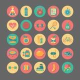 Iconos de la aptitud fijados Imagen de archivo libre de regalías