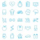 Iconos de la aptitud fijados Imágenes de archivo libres de regalías