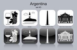Iconos de la Argentina Foto de archivo libre de regalías
