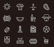 Iconos de la Argentina Fotografía de archivo libre de regalías