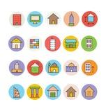 Iconos 3 de la arquitectura y del vector de los edificios ilustración del vector
