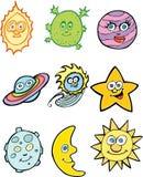 Iconos de la astronomía Imágenes de archivo libres de regalías