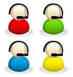 Iconos de la atención al cliente Imagen de archivo libre de regalías