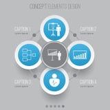 Iconos de la autoridad fijados Estadísticas de Collection Of Project Presentation, Company, demostración de la solución y otros e libre illustration