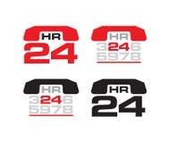 24 iconos de la ayuda de h Imagen de archivo
