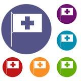 Iconos de la bandera de Suiza fijados libre illustration