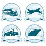 Iconos de la bandera del transporte Imagen de archivo