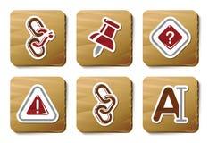 Iconos de la barra de herramientas y del interfaz | Serie de la cartulina Imagen de archivo
