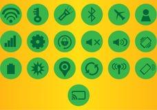 Iconos de la barra de la notificación, Imágenes de archivo libres de regalías