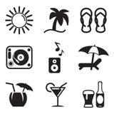 Iconos de la barra de la playa Fotos de archivo