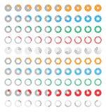 Iconos de la barra de progreso stock de ilustración