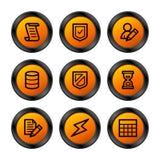 Iconos de la base de datos, serie anaranjada stock de ilustración