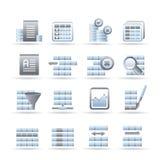 Iconos de la base de datos y del formato del vector Imagen de archivo libre de regalías