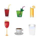 Iconos de la bebida Foto de archivo libre de regalías