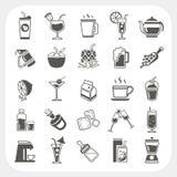 Iconos de la bebida fijados Imagenes de archivo