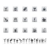 Iconos de la bebida y de la barra. Imágenes de archivo libres de regalías