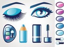 Iconos de la belleza (ojo) Fotografía de archivo libre de regalías