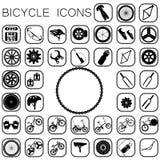 Iconos de la bici Imágenes de archivo libres de regalías