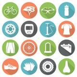 Iconos de la bicicleta Fotografía de archivo libre de regalías