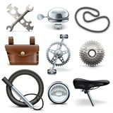 Iconos de la bicicleta del vector Foto de archivo libre de regalías
