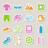 Iconos de la bicicleta fijados Imagen de archivo libre de regalías
