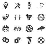 Iconos de la bicicleta fijados Fotografía de archivo libre de regalías