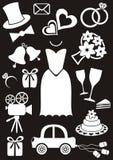Iconos de la boda Foto de archivo libre de regalías