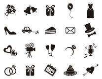 Iconos de la boda Fotografía de archivo libre de regalías