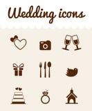 Iconos de la boda Imagen de archivo libre de regalías