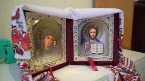 Iconos de la boda Religión del cristianismo metrajes