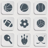 Iconos de la bola del deporte Fotografía de archivo