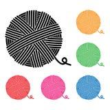 Iconos de la bola del hilado Imagenes de archivo