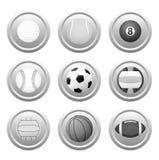 Iconos de la bola del vector Imagen de archivo libre de regalías