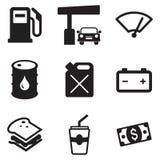 Iconos de la bomba de gas Imagen de archivo libre de regalías