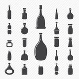 Iconos de la botella Fotos de archivo libres de regalías