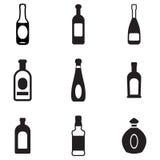 Iconos de la botella Imagen de archivo libre de regalías