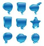 Iconos de la burbuja Foto de archivo libre de regalías