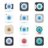 Iconos de la cámara Fotografía de archivo libre de regalías