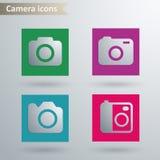 Iconos de la cámara Imagen de archivo libre de regalías