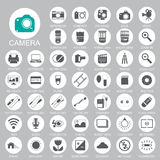 Iconos de la cámara de la fotografía Fotos de archivo libres de regalías