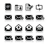 Iconos de la caja del email fijados Imagen de archivo libre de regalías