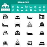 Iconos de la cama ilustración del vector