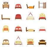 Iconos de la cama libre illustration