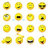 Iconos de la cara de la sonrisa. stock de ilustración