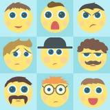 Iconos de la cara de la sonrisa del estilo del vector Imagen de archivo libre de regalías