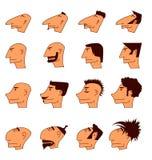 Iconos de la cara fijados Fotos de archivo