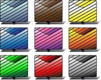 Iconos de la carpeta Foto de archivo