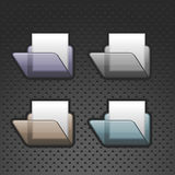 Iconos de la carpeta del vector Foto de archivo libre de regalías