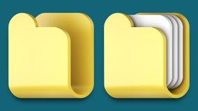 Iconos de la carpeta para las aplicaciones del iphone y del ipad. Fotografía de archivo libre de regalías