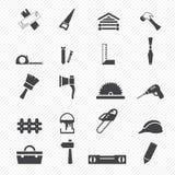 Iconos de la carpintería ilustración del vector